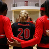 Members of the Georgia volleyball team huddle up after the Bulldogs' game with Savannah State at the Ramsey Center in Athens, Ga., on Saturday, August 27, 2016. (Photo by David Barnes)