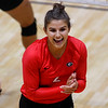 Georgia's Amanda Dachs (2) celebrates scoring during the Bulldogs' game with Savannah State at the Ramsey Center in Athens, Ga., on Saturday, August 27, 2016. (Photo by David Barnes)