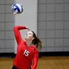 Georgia's Sydney Gilliam (15) serves the ball during the Bulldogs' game with Savannah State at the Ramsey Center in Athens, Ga., on Saturday, August 27, 2016. (Photo by David Barnes)
