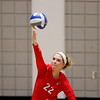 Georgia's Meghan Donovan (22) serves the ball during the Bulldogs' game with Savannah State at the Ramsey Center in Athens, Ga., on Saturday, August 27, 2016. (Photo by David Barnes)