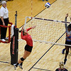 Georgia's Amanda Dachs (2) hits the ball during the Bulldogs' game with Savannah State at the Ramsey Center in Athens, Ga., on Saturday, August 27, 2016. (Photo by David Barnes)