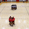Members of the Georgia volleyball team huddle up before the start of the Bulldogs' game with Savannah State at the Ramsey Center in Athens, Ga., on Saturday, August 27, 2016. (Photo by David Barnes)