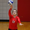 Georgia's Maddie Lobenstein (13) serves the ball during the Bulldogs' game with Savannah State at the Ramsey Center in Athens, Ga., on Saturday, August 27, 2016. (Photo by David Barnes)
