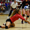 Georgia's Caroline Ostman (21) bumps the ball during the Bulldogs' game with Savannah State at the Ramsey Center in Athens, Ga., on Saturday, August 27, 2016. (Photo by David Barnes)