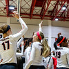 Members of the Georgia volleyball team during the Bulldogs' match with Texas A&M at the Ramsey Center in Athens, Ga., on Friday, October 21, 2016. (Photo by John Paul Van Wert)