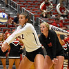 Georgia's Amanda Dachs (2) bumps the ball during the Bulldogs' game with UNC Asheville at the Ramsey Center in Athens, Ga., on Friday, August 26, 2016. (Photo by David Barnes)