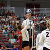 Georgia's Amanda Dachs (2) sets the ball during the Bulldogs' game with UNC Asheville at the Ramsey Center in Athens, Ga., on Friday, August 26, 2016. (Photo by David Barnes)