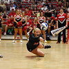 Georgia's Cassidy Anderson (20) dives for the ball during the Bulldogs' game with UNC Asheville at the Ramsey Center in Athens, Ga., on Friday, August 26, 2016. (Photo by David Barnes)