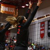 Georgia's Amanda Dachs (2) and Georgia's Majesti Bass (19) during the Bulldogs' volleyball match against Georgia Tech at the Ramsey Student Center in Athens, Ga. on Friday, Sept. 15, 2017. (Photo by Steffenie Burns)