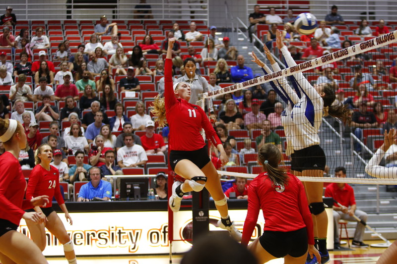 Georgia's Anna Kate Karstens (11) during the Bulldogs' game against UNC Asheville at Ramsey Student Center in Athens, Ga., on Saturday, Aug. 26, 2017.  (Photo by Steffenie Burns / Georgia Sports Communication)