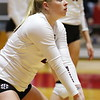 Georgia's Cassidy Anderson (20) and team during the Bulldogs' volleyball match against Ole Miss at Ramsey Student Center in Athens, Ga., on Friday, Nov. 10 2017. (Photo by Steffenie Burns)