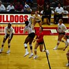 Georgia's T'ara Ceasar (1), Majesti Bass (19), Kendall Glover (8), Meghan Donovan (22), Cassidy Anderson (20), and Rachel Ritchie (24) during the Bulldogs' match against Auburn at the Ramsey Student Center in Athens, Ga. on Sunday, Sept. 24, 2017. (Photo by Caitlyn Tam)