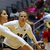 Georgia's Cassidy Anderson (20) during the Bulldogs' volleyball match against Ole Miss at Ramsey Student Center in Athens, Ga., on Friday, Nov. 10 2017. (Photo by Steffenie Burns)