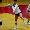 Georgia's Cassidy Anderson (20) during the Bulldogs' match against Texas A&M at the Ramsey Student Center in Athens, Ga. on Friday, Sept. 29, 2017. (Photo by Caitlyn Tam)