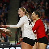 Georgia's Cassidy Anderson (20) during the Bulldogs' volleyball match against Mississppi State at Stegeman Coliseum in Athens, Ga., on Friday, Nov. 3 2017. (Photo by Steffenie Burns)