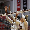Georgia's Rachel Ritchie (24) and Georgia's Majesti Bass (19) during the Bulldogs' match against Alabama A&M at Ramsey Student Center in Athens, Ga., on Tuesday, Nov. 28, 2017. (Photo by Steffenie Burns)