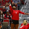 Georgia's T'ara Ceasar (1) during the Bulldogs' match against UCF at Ramsey Student Center in Athens, Ga., on Wednesday, Nov. 29, 2017. (Photo by Steffenie Burns)