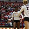 Georgia's T'ara Ceasar (1) during the Bulldogs' volleyball match against Ole Miss at Ramsey Student Center in Athens, Ga., on Friday, Nov. 10 2017. (Photo by Steffenie Burns)
