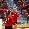 Georgia's Meghan Donovan (22) during the Bulldogs' match against UCF at Ramsey Student Center in Athens, Ga., on Wednesday, Nov. 29, 2017. (Photo by Steffenie Burns)