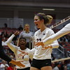 Georgia's Meghan Donovan (22) during the Bulldogs' volleyball match against Ole Miss at Ramsey Student Center in Athens, Ga., on Friday, Nov. 10 2017. (Photo by Steffenie Burns)