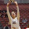 Georgia's Meghan Donovan (22) during the Bulldogs' match against Alabama A&M at Ramsey Student Center in Athens, Ga., on Tuesday, Nov. 28, 2017. (Photo by Steffenie Burns)