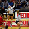Georgia's Katie Houser (12) during the Bulldogs' match against Auburn at the Ramsey Student Center in Athens, Ga. on Sunday, Sept. 24, 2017. (Photo by Caitlyn Tam)