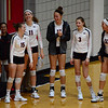 Georgia's Sydney Gilliam (15), Anna Kate Karstens (11), Kianna Young (17), Claire Rothenberger (3), and Katie Houser (12) during the Bulldogs' match against Alabama at the Ramsey Student Center in Athens, Ga. on Friday, Sept. 22, 2017. (Photo by Caitlyn Tam)