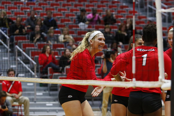 Georgia's Anna Kate Karstens (11) during the Bulldogs' match against UCF at Ramsey Student Center in Athens, Ga., on Wednesday, Nov. 29, 2017. (Photo by Steffenie Burns)