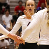 Georgia's Sarah Lagler-Clark (4) during the Bulldogs' match with Florida at the Ramsey Center in Athens, Ga., on Wednesday, Nov. 2, 2016. (Photo by Cory A. Cole)