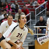 Georgia's Caroline Ostman (21) during the Bulldogs' match against Ole Miss at Ramsey Center in Athens, Ga., on Sunday, Nov. 20, 2016. (Photo by Cory A. Cole)