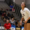 Georgia's Caroline Ostman (21) during the Bulldogs' match against Arkansas at Ramsey Center in Athens, Ga., on Friday, Nov. 18, 2016. (Photo by Cory A. Cole)