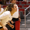 Georgia's Caroline Ostman (21) during the Bulldogs' match with Florida at the Ramsey Center in Athens, Ga., on Wednesday, Nov. 2, 2016. (Photo by Cory A. Cole)