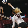 Georgia's Rachel Ritchie (24) during the Bulldogs' volleyball match against Mississppi State at Stegeman Coliseum in Athens, Ga., on Friday, Nov. 3 2017. (Photo by Steffenie Burns)