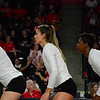 Georgia's Kianna Young (17), Amanda Dachs (2), and T'ara Ceasar (1) during the Bulldogs' game against Tennessee at Stegeman Coliseum in Athens, Ga. on Wednesday, Oct. 11, 2017. (Photo by Caitlyn Tam)