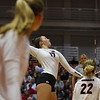 Georgia's Kianna Young (17) during the Bulldogs' volleyball match against Ole Miss at Ramsey Student Center in Athens, Ga., on Friday, Nov. 10 2017. (Photo by Steffenie Burns)