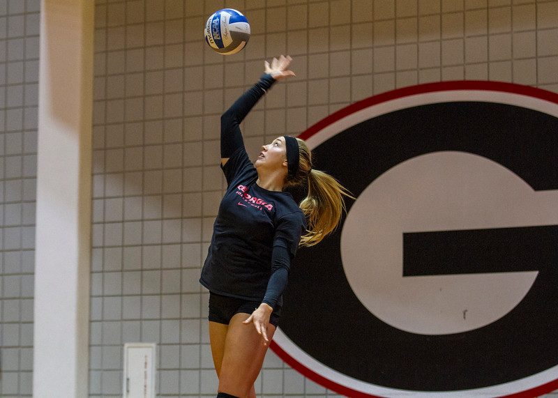Georgia's Katie Houser (12) during the Bulldogs' scrimmage against Georgia Tech at the Ramsey Student Center in Athens, Ga., on Sunday, April 9, 2017.  (Photo by John Paul Van Wert/Georgia Sports Communication)