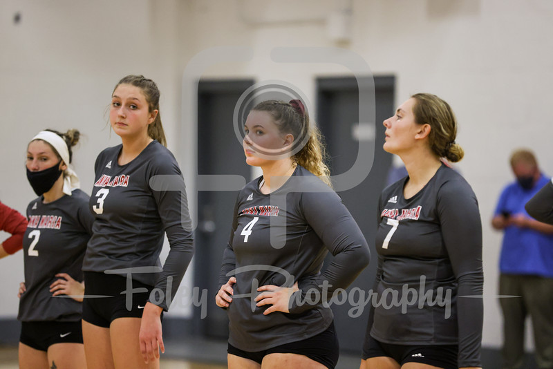 Sep. 07, 2021; Paxton, Massachusetts, USA;  during a non conference matchup between Mount Holyoke and Anna Maria. The Lyons won the match 3-0 over the Amcats at Fuller Center. Photo by Foley-Photography.