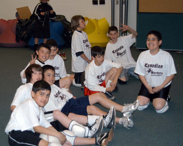 April 21, 2009: Game 4 vs Our Lady of Mount Carmel Tie 2-2  chillin' b4 during the Seniors game