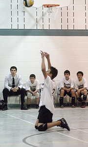 Game 2 vs OLMC Knights - April 6, 2010 ... David is praying to the VBall Gods who guided the Marauders to a 3-1 victory