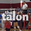 Argyle Eagles take on the Melissa Cardinals in a Varsity volleyball game at Argyle High School in Argyle, Texas, on September 25, 2018. (Karina Navarro / The Talon News)
