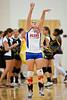 Glenn Bobcats vs E Forsyth Eagles Varsity Volleyball<br /> Tuesday, August 17, 2010 at Adkins High School<br /> Winston-Salem, North Carolina<br /> (file 181529_QE6Q7554_1D2N)