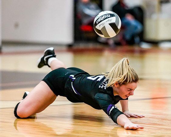 Keystone Jeanenne Miller with the dig attempt against Brookside Tuesday September 11.  photo Joe Colon