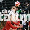 The Lady Eagles volleyball team plays in the first playoff game against the Brownwood Lions at Breckenridge High School in Breckenridge, Texas, on October 30, 2018. (Sloan Dial / The Talon News)