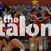 The Argyle volleyball team competes against Decatur at Argyle High School, Texas on October 18, 2019.(Rylie Halk | The Talon News)