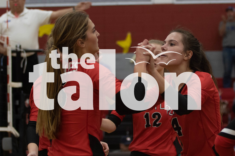 The Argyle volleyball team competes against Decatur at Argyle High School, Texas on October 18, 2019(Rylie Halk | The Talon News)