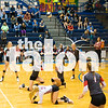 The Lady Eagles volleyball team end district play with a loss (3-1) in the Lady Eagles vs Decatur at Eagle Gymnasium in Decatur, Texas, on October, 24, 2017. (Stacy Short / The Talon News)