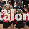 Lady Eagles volleyball play against Hereford  High School at Mcmurry  college in Abilene, TX on November 15, 2019. (Rylie Halk | The Talon News)