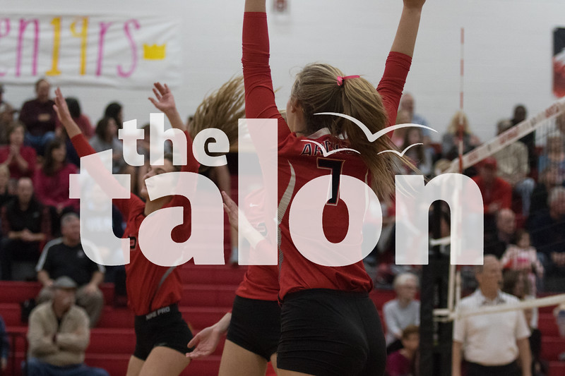 The Lady Eagles compete in their  District Volleyball at Argyle High School in Argyle, Texas, on October 16, 2018. Sloan Dial (Sloan Dial / The Talon News)