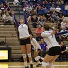 The Huskie Volleyball team finished off the Northwest Challenge by beating the Portland State Vikings 3-0 at the  Martin Centre, Spokane, Washington United States 2015-08-29 By: Natassia Stelmaszek