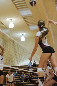 Menlo Atherton High School Girl's Varsity Volleyball vs. South San Francisco.  October 7, 2014